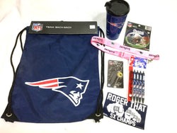 New England Patriots Girls Womens Backpack Travel Mug Cup Keychain Lanyard Lot