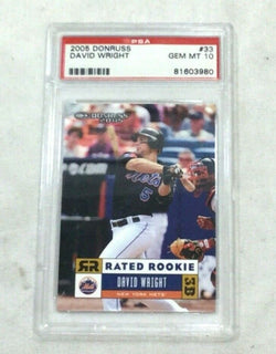 2005 Donruss #33 New York Mets David Wright Rc Rookie Card PSA 10 Gem Mint