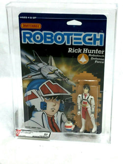 1985 Vintage Matchbox Robotech Rick Hunter Figure MOC Carded Sealed AFA 85 Mint