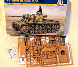 Italeri German WWII Panzer Tank Pz. Kpfw. III Aust. M/N 1/72 Scale Model Kit