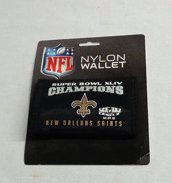 New Orleans Saints SuperBowl 44 World Champions Nylon Tri Fold Wallet FREESHIP