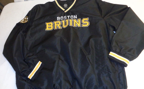NEW Official Boston Bruins G3 Line Pull Over Light Jacket Size Mens Large FREESP