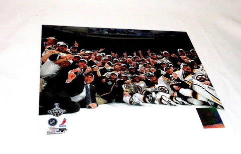 Boston Bruins 2011 Stanley Cup Champions Celebrate Ice Picture Photo 8x10 FREESP