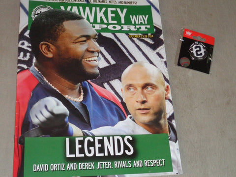 2014 Yawkey Way Report Red Sox Yakees Derek Jeter Final Game Program Pin Lot
