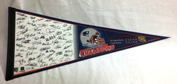 2003 Superbowl 38 Champions New England Patriots Pennant Team Roster Signature