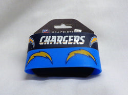 NFL San Diego Chargers 2 Pack Bracelet Wrist Bands Set Rubber PVC Type FREESHIP