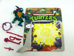 1990 Teenange Mutant Turtles TMNT Slash Complete Figure Cardback Purple Belt
