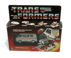 1984 Vintage G1 Transformers Ratchet Boxed Complete Insert Bubble Booklet Prerub