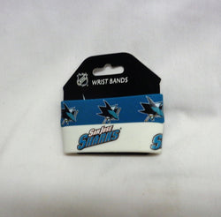NHL San Jose Sharks 2 Pack Bracelet Wrist Bands Set Rubber PVC Type FREESHIP