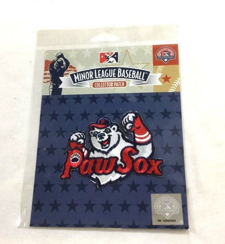 Boston Minor League Pawtucket Red Sox Paw Sox Jersey Patch Bear Claw Type FREESP