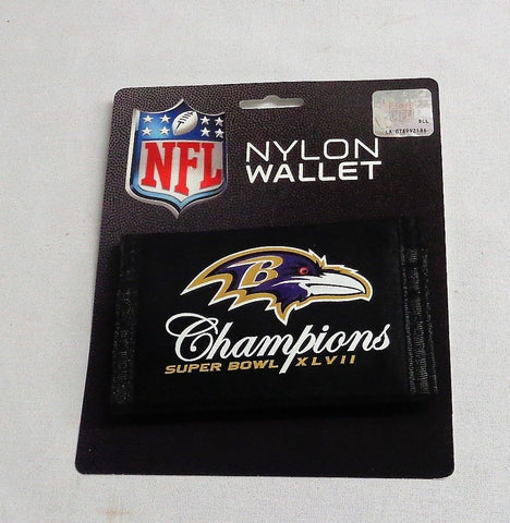 Baltimore Ravens SuperBowl 47 World Champions Nylon Tri Fold Wallet FREESHIP