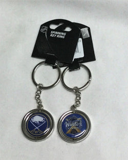 2018 Winter Classic Team Logo Spinning Keychain Buffalo Sabres FREESHIP