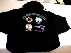Boston Decade Dominance Bruins RedSox Celtics Patriots Hoodie Sweatshirt XXLarge