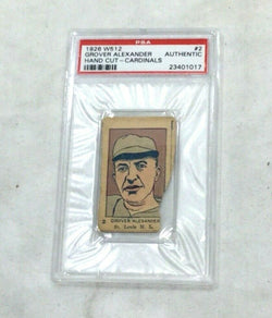 1926 W512 Baseball #2 St Louis Cardinals Grover Alexander PSA Authentic FREESHP