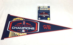 2018 World Series Champions Trophy Pennant Boston Red Sox & Patch Lot (RCT)