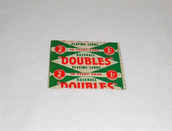 Original 1951 Topps Doubles Wax Pack Wrapper Baseball Red Back 1 Cent FREESHIP