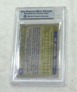 1987 Topps #170 Kansas City Royals Bo Jackson Rc Rookie Card BGS Beckett 8.5