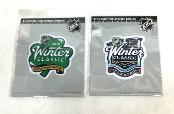 2016 2019 Winter Classic Jersey Patch Lot Boston Bruins Blackhawks Canadiens