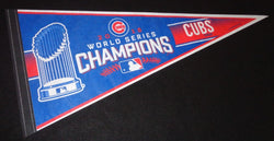 Chicago Cubs 2016 World Series Champions Trophy Pennant FREESHIP