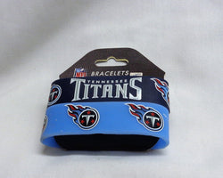 NFL Tennessee Titans 2 Pack Bracelet Wrist Bands Set Rubber PVC Type FREESHIP
