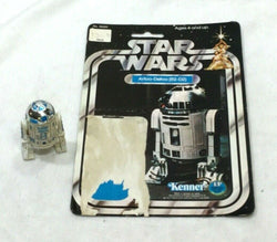 RARE 1978 Star Wars R2D2 Droid Robot Figure Complete 12 Cardback FREESHIP