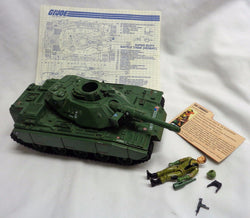 1982 Vintage GI Joe ARAH Mobat Tank Vehicle Complete Steeler Blueprints FREESHIP