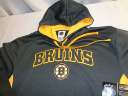 NHL Boston Bruins Practice Wicking Hoodie Hooded Sweatshirt Mens Large FREESHIP