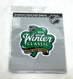 2019 NHL Winter Classic Jersey Patch Notre Dame Stadium Fighting Irish Shamrock