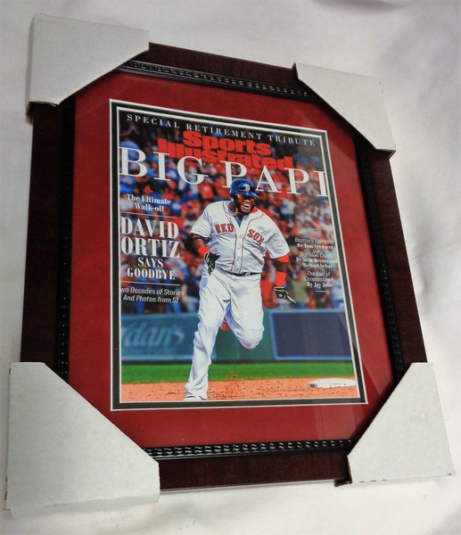 Boston Red Sox David Ortiz Last Sports Illustrated Cover Framed Picture 13x16