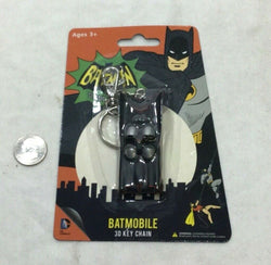 NEW DC Comics Batmobile Car Rubber Keychain 1966 Tv Classic Batman FREESHIP