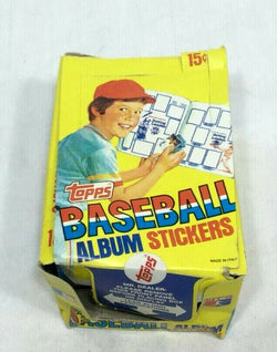 Vintage 1981 Topps Baseball Stickers Wax Box 100 Sealed Packs Display FREESHIPVintage 1981 Topps Baseball Stickers Wax Box 100 Sealed Packs Display FREESHIP