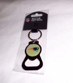 NFL New England Patriots Classic Bottle Opener Keychain Chrome Color FREESHIP