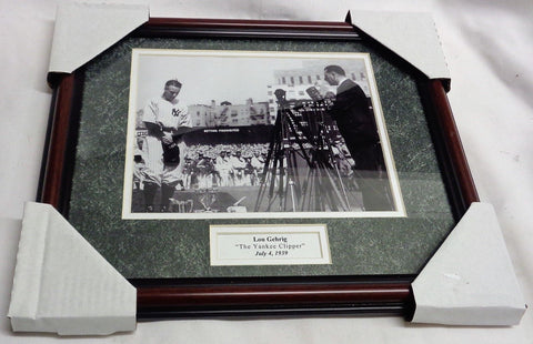 New York Yankees HOF Lou Gehrig Retirement 1939 Framed Matted Picture 13x16