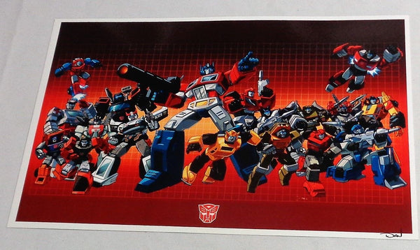 G1 Transformers Autobots Team Poster 1st Season TV 11x17 Box Art Grid FREESHIP