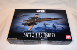 NEW Bandai Star Wars Poe's X Wing Fighter Plastic Model Kit Box Set 1/72 Scale