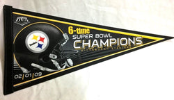 2008 Superbowl 43 World Champions Pittsburgh Steelers Pennant 6X (B) FREESHIP