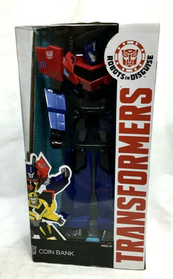 Transformers Robots in Disguise Optimus Prime Coin Bank 15 Inch Boxed MIB Sealed
