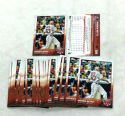 2015 Topps Baseball #389 Red Sox Mookie Betts Rc Rookie Card 25 Piece Lot