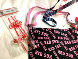 Boston Red Sox Beach Bag Bottle Keychain Lanyard Headband Straws Ortiz Book Lot