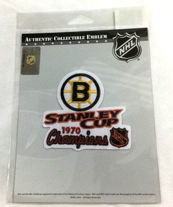 Official 1970 Stanley Cup Champions Boston Bruins Jersey Patch Bobby Orr 1st Cup