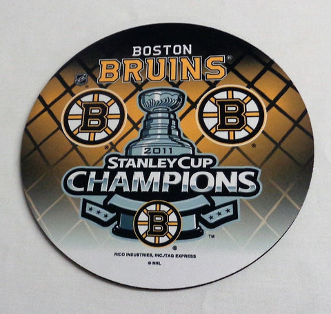NHL Boston Bruins 2011 Stanley Cup Champions Mouse Pad Trophy Logo FREESHIP