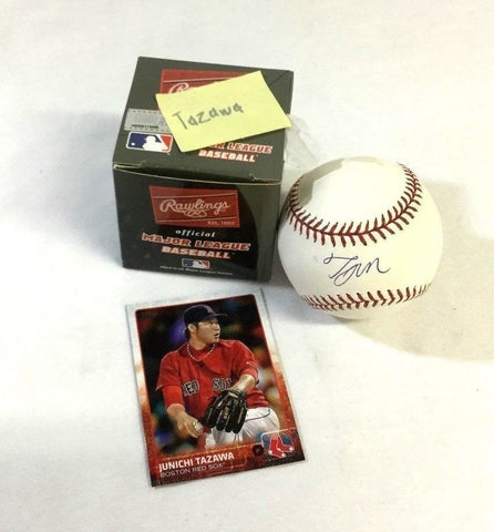 Miami Marlins Boston Red Sox Junichi Tazawa Autographed Signed Baseball FREESHIP