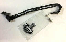 NHL 2011 Stanley Cup Finals Ticket Holder Lanyard Pin Boston Bruins Canucks