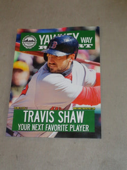 May 2016 Yawkey Way Report Boston Red Sox Program Scorecard Travis Shaw Cover