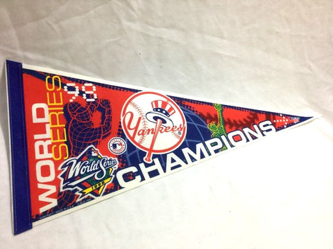 1998 World Series Champions New York Yankees Pennant FREESHIP Jeter Rivera
