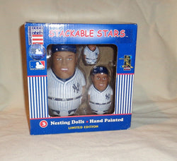 2003 Cooperstown New York Yankees Derek Jeter Stackable Stars Nesting Dolls Set
