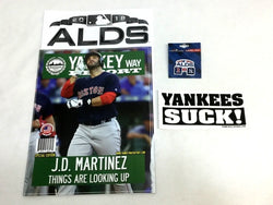2018 ALDS Division Series Yawkey Way Report Red Sox Yankees Suck Sticker Pin Lot