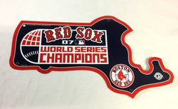 2007 World Series Champions Boston Red Sox Diecut Plastic State Sign 12x14