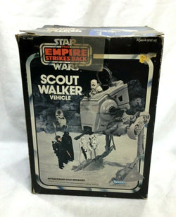 1980 Star Wars ESB Empire Strikes Back Scout Walker AT-ST Complete Boxed Insert