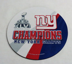 NFL New York Giants SuperBowl 46 World Champions Mouse Pad Manning MVP FREESHIP